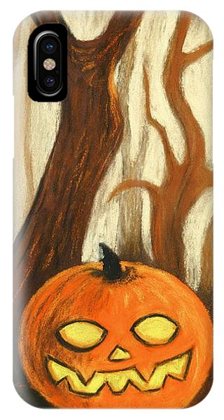 IPhone Case featuring the painting Halloween Forest by Anastasiya Malakhova