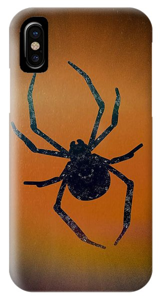 IPhone Case featuring the mixed media Halloween Spider  by Rachel Hannah