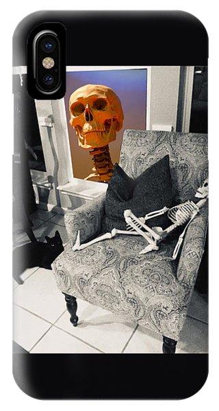 Halloween Window Dressing IPhone Case