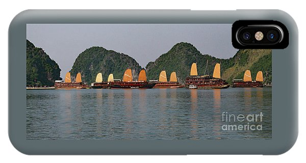 IPhone Case featuring the photograph Halong Bay--waiting For Sunrise by PJ Boylan