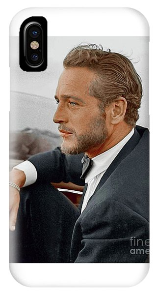 Hand Colored Picture Of Paul Newman IPhone Case
