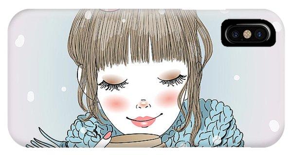 Heat iPhone Case - Hand Drawn Beautiful Cute Girl With by Oksana Lysak