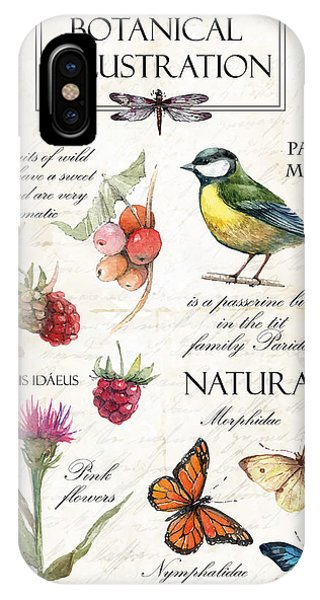 Summer Fruit iPhone Case - Hand Drawn Botanical Illustration In by Yana Fefelova