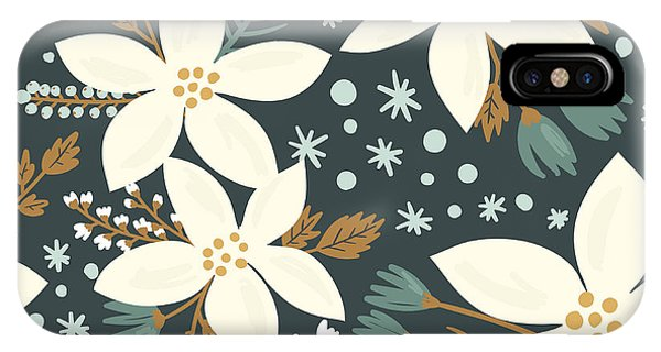 Ornamental iPhone Case - Hand Drawn Floral Seamless Vector by Artnis