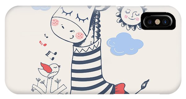 Small iPhone Case - Hand Drawn Vector Illustration Of Cute by Eteri Davinski