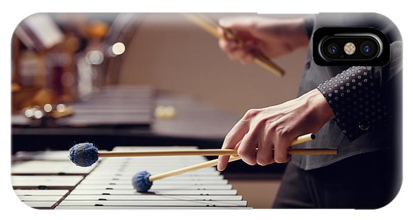 Students iPhone Case - Hands Of Musician Playing The Vibraphone by Furtseff