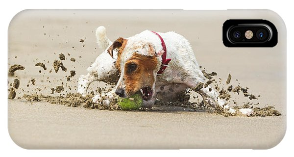 Happy Dog Stopping On The Ball High Phone Case by Ammit Jack