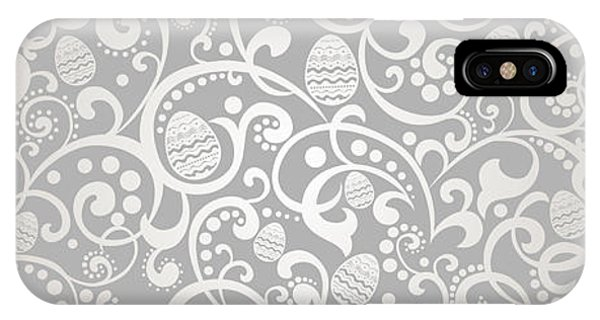 Eggs iPhone Case - Happy Easter Vintage Background With by Semiletava Hanna