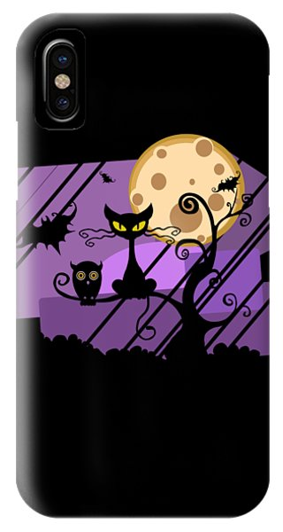 Happy Halloween Cat IPhone Case