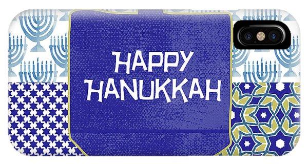 Holidays iPhone Case - Happy Hanukkah Dreidel 1- Art By Linda Woods by Linda Woods