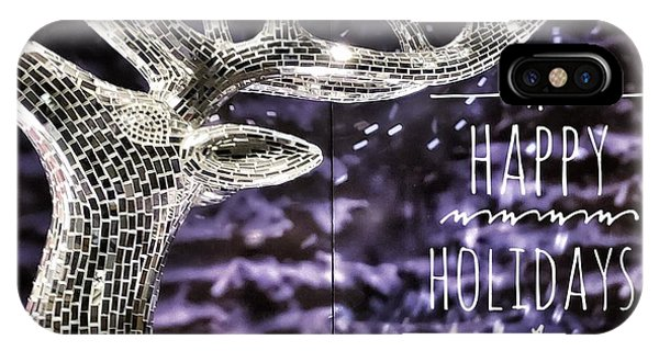 Happy Holiday Sparkle IPhone Case
