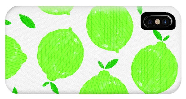 Happy Lime Print IPhone Case