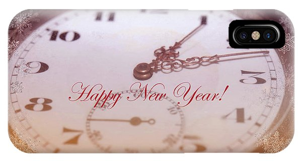 Happy New Year With Decorative And Nostalgic Theme. IPhone Case