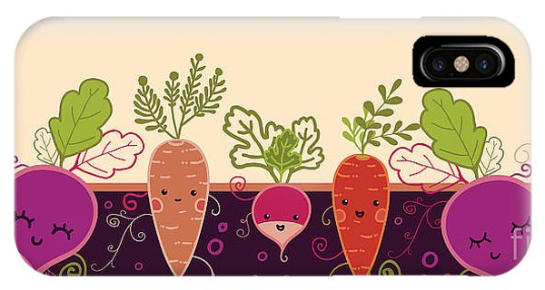 Ingredient iPhone Case - Happy Root Vegetables Horizontal by Oksancia