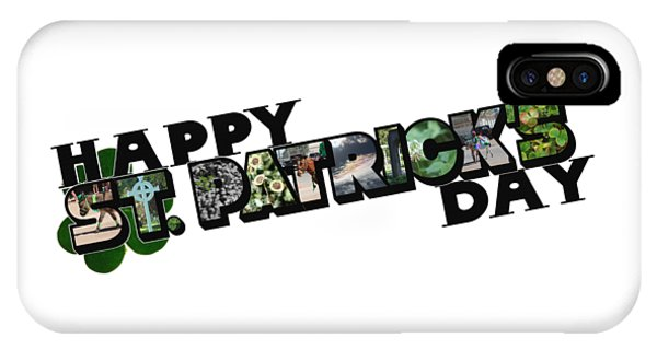 Happy St. Patrick's Day Big Letter IPhone Case