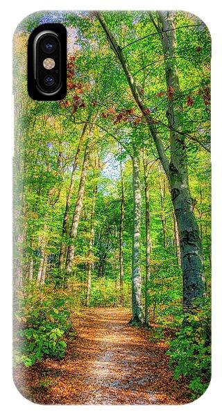 Hiking Path iPhone Case - Happy Trails by Tom Mc Nemar