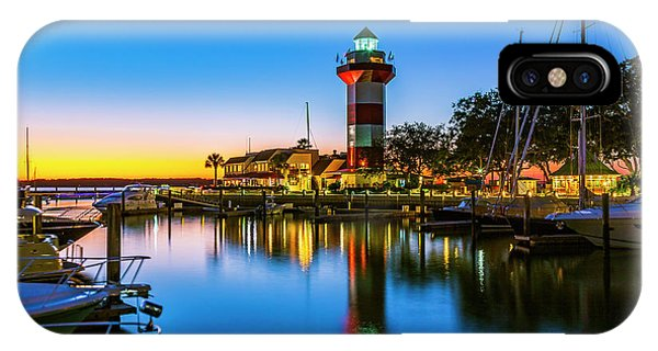 Harbor Town Lighthouse - Blue Hour IPhone Case
