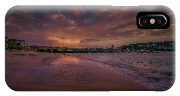 Harbour Sunset - St Ives Cornwall IPhone Case