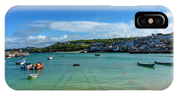 Harbour To Porthminster St Ives Cornwall IPhone Case