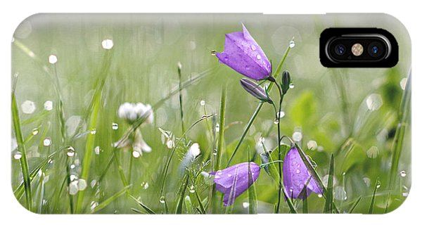 Harebells And Water Drops IPhone Case