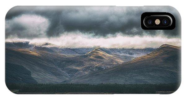 Beautiful Scotland iPhone Case - Harsh Mountainous Country by Chris Fletcher