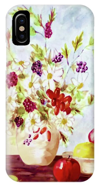 Harvest Time-still Life Painting By V.kelly IPhone Case