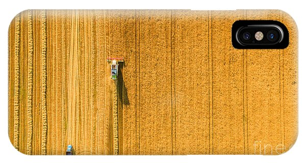 Ripe iPhone Case - Harvester Machine Working In Field by Lals Stock