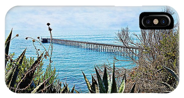 Haskell Beach Pier IPhone Case