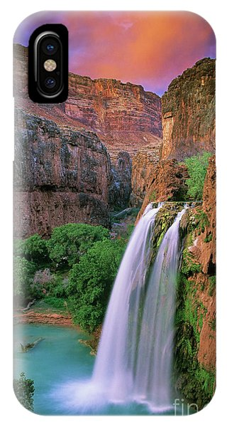 Clear iPhone Case - Havasu Falls by Inge Johnsson