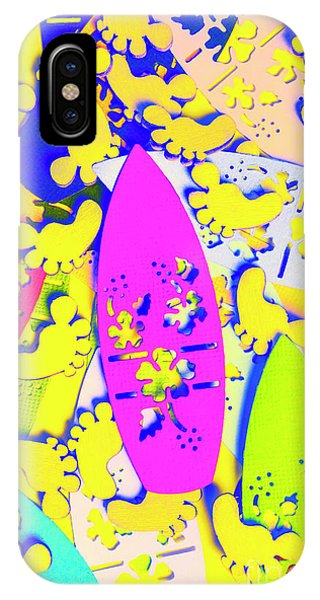 Neon iPhone Case - Hawaiian Design by Jorgo Photography - Wall Art Gallery