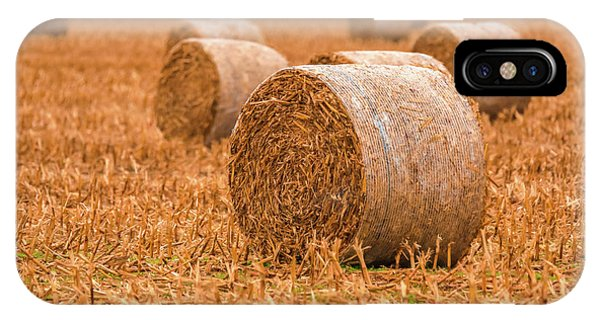 IPhone Case featuring the photograph Hay Rolls by Dan Sproul