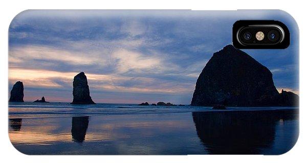 Haystack Rock At Dusk IPhone Case