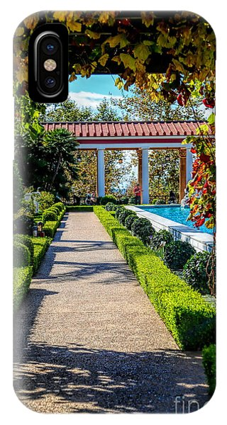 J Paul Getty iPhone Case - Hd Getty Pathway Villa California  by Chuck Kuhn