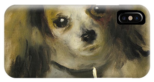 King Charles iPhone Case - Head Of A Dog, 1870 by Pierre Auguste Renoir