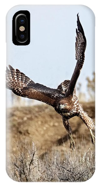 Red Tail Hawk iPhone Case - Headed For You by Mike Dawson