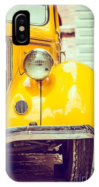 Vehicles iPhone Case - Headlight Lamp  Vintage Car - Vintage by Food Travel Stockforlife