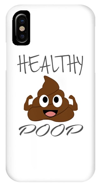 Toilet Humor iPhone Case - Healthy Poop With Flexing Arms by Shawlin