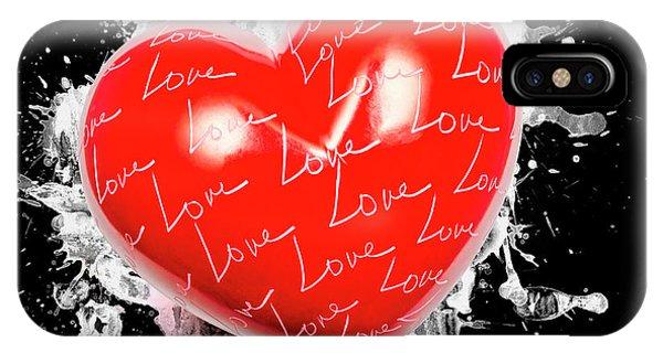 Ink iPhone Case - Heart Art by Jorgo Photography - Wall Art Gallery