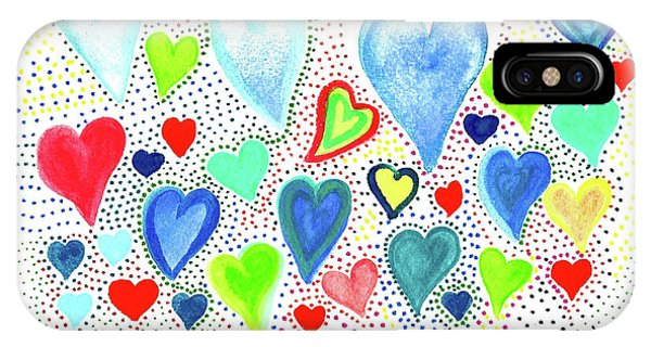 Hearts 1002 IPhone Case
