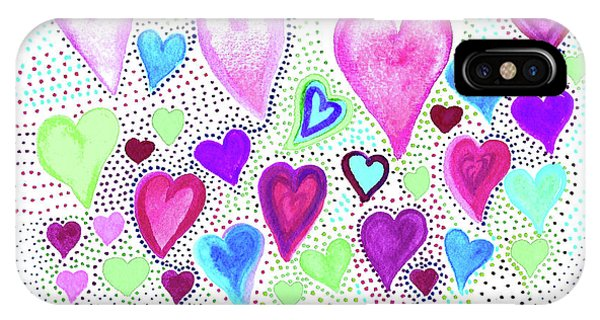 Hearts 1004 IPhone Case