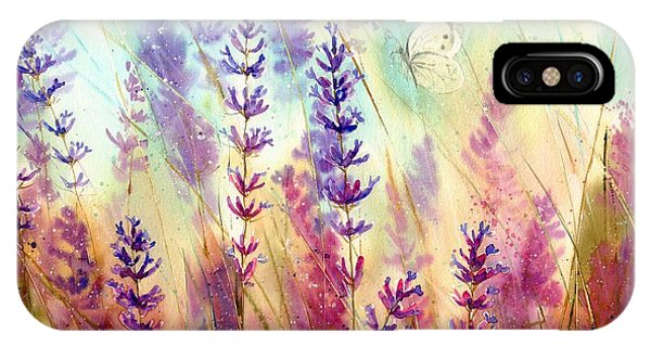 Blue Violet iPhone Case - Heathers In Haze by Suzann Sines