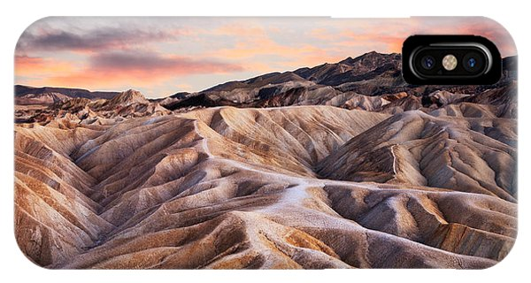 Death Valley iPhone Case - Heavily Eroded Ridges At Zabriskie by Doug Lemke