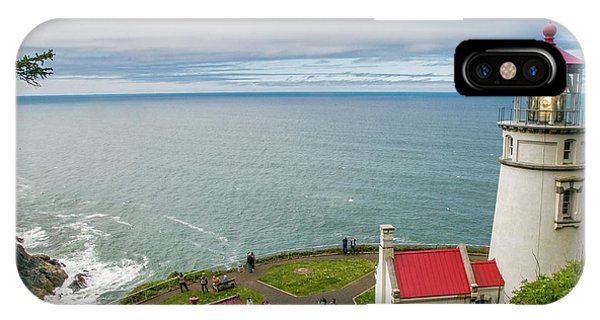 Heceta Head Lighthouse And The Pacific IPhone Case