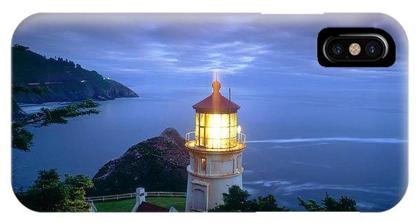 Navigation iPhone Case - Heceta Head Lighthouse, Oregon Coast by Stuart Westmorland