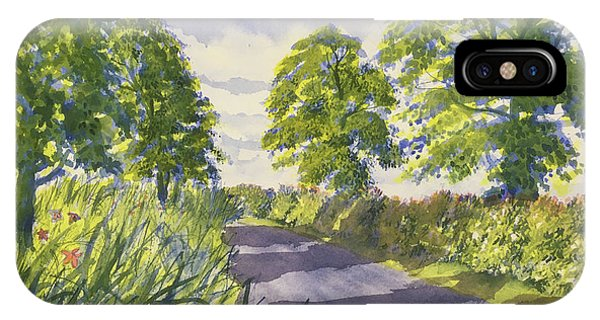 Hedgerows On Rudston Road IPhone Case