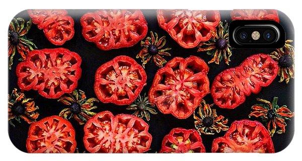 Heirloom Tomato Grid IPhone Case