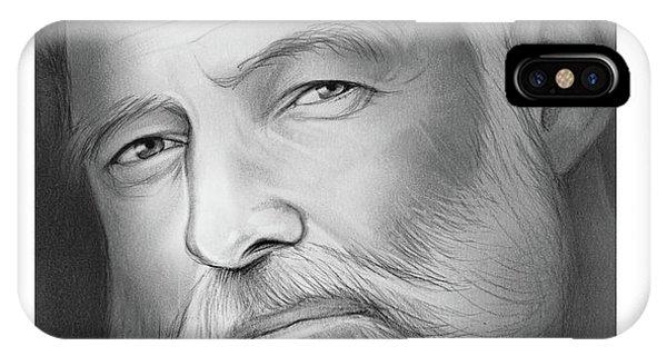 Graphite iPhone Case - Hemingway by Greg Joens