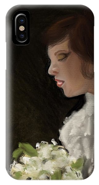 IPhone Case featuring the painting Her Big Day by Fe Jones