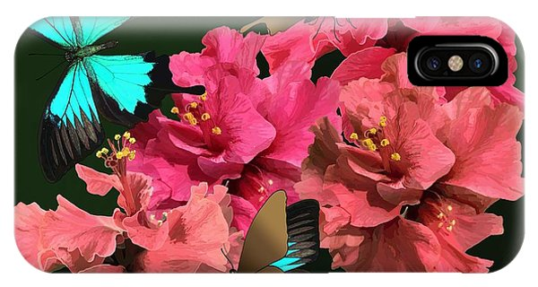 Hibiscus Butterfly Joy IPhone Case