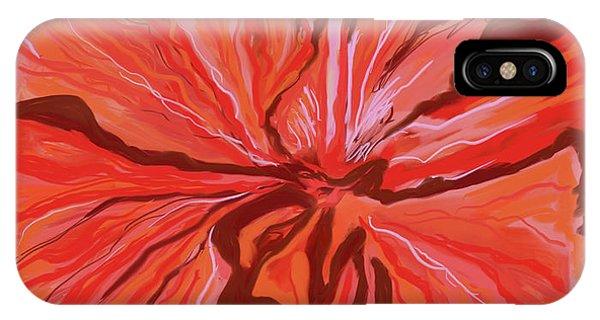 Hibiscus Color Lines IPhone Case